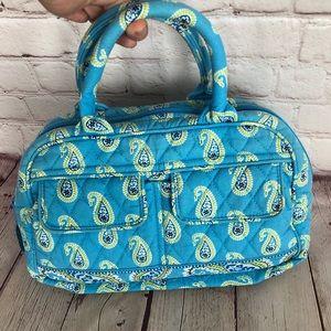 Vera Bradley light blue paisley top handle satchel